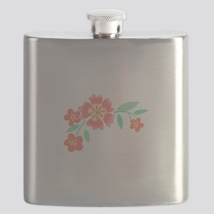 Floral Accent Flask