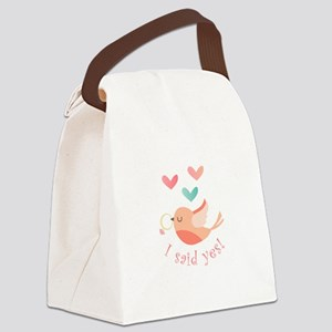 I Said Yes! Canvas Lunch Bag