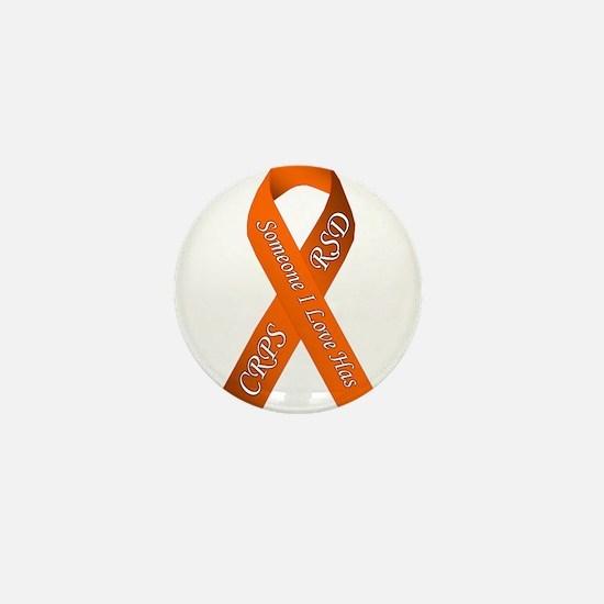 Someone I Love has CRPS RSD Orange Awa Mini Button