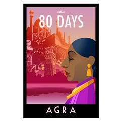 80 Days Agra Poster Art