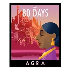 80 Days Agra Poster Design