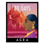 80 Days Agra Small Poster