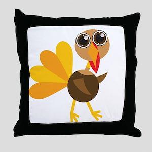 Cute Turkey Throw Pillow