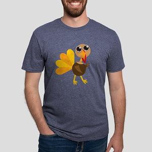 Cute Turkey Mens Tri-blend T-Shirt