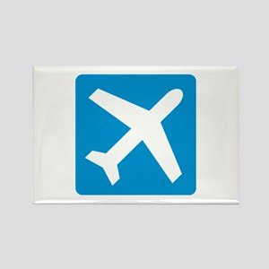 Blue airplane icon Rectangle Magnet