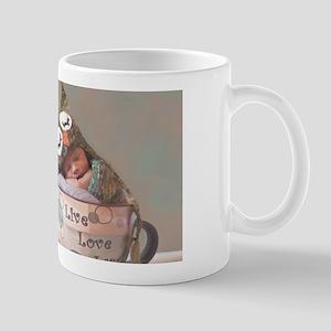 Baby With Owl Cap Mugs