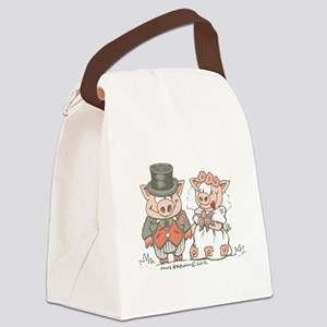 Wedding Pigs Canvas Lunch Bag