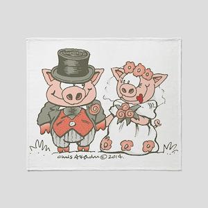 Wedding Pigs Throw Blanket