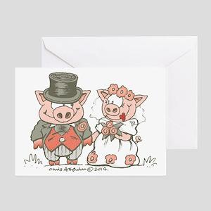 Wedding Pigs Greeting Card