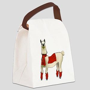 Llama Canvas Lunch Bag