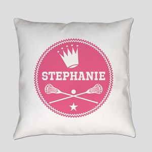 Lacrosse Princess Personalized Everyday Pillow