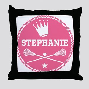 Lacrosse Princess Personalized Throw Pillow