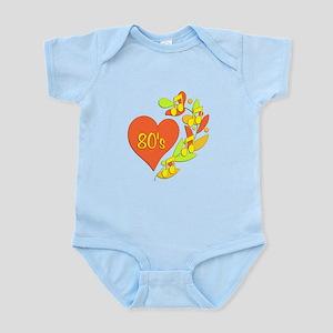 80s Music Heart Infant Bodysuit