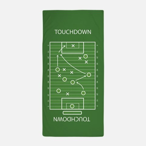 Football field Beach Towel