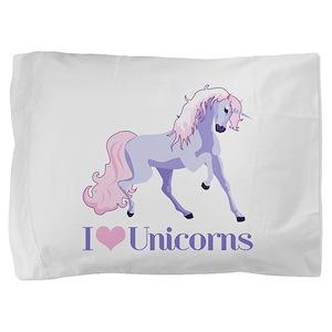 I Heart Unicorns Pillow Sham