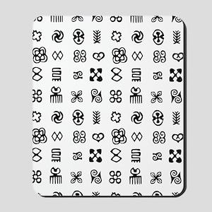 West Africa Adinkra Symbols Mousepad