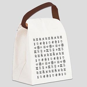 West Africa Adinkra Symbols Canvas Lunch Bag