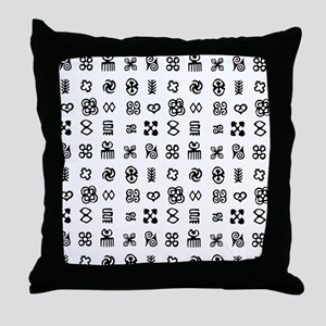 West Africa Adinkra Symbols Throw Pillow