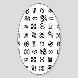 West Africa Adinkra Symbols Sticker (Oval)