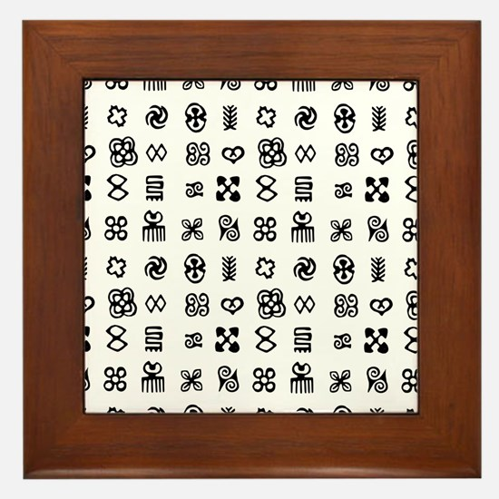 West Africa Adinkra Symbols Framed Tile