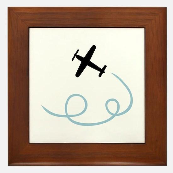 Plane aviation Framed Tile