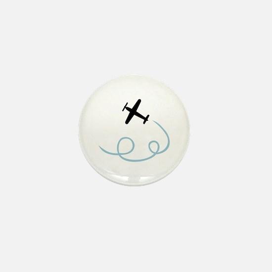 Plane aviation Mini Button
