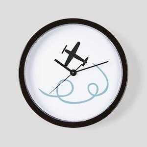 Plane aviation Wall Clock