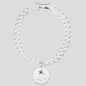 Plane aviation Charm Bracelet, One Charm