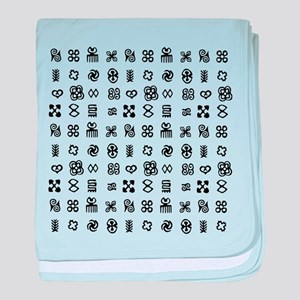 West Africa Adinkra Symbols baby blanket