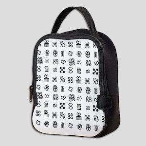 West Africa Adinkra Symbols Neoprene Lunch Bag