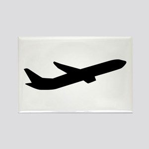 Airplane take off depature Rectangle Magnet