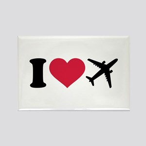 I love airplanes Rectangle Magnet