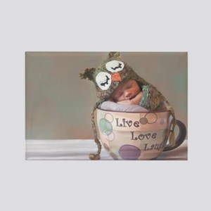 Baby With Owl Cap Magnets