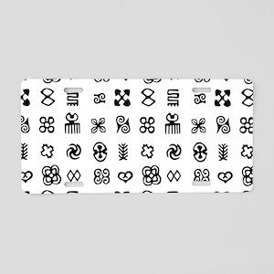 West Africa Adinkra Symbols Aluminum License Plate