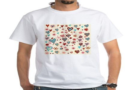 A Pattern Of Hearts T Shirt