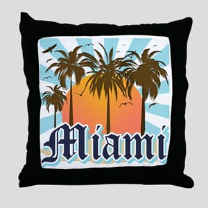 Miami Florida Souvenir Throw Pillow