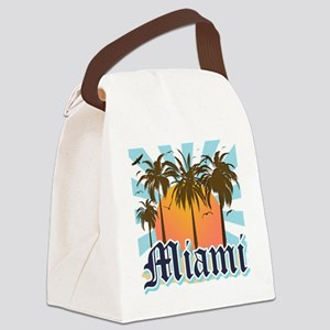 Miami Florida Souvenir Canvas Lunch Bag