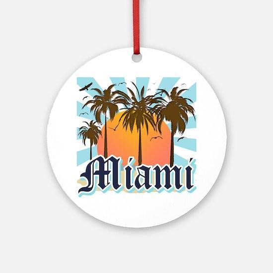 Miami Florida Souvenir Round Ornament