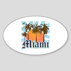 Miami Florida Souvenir Sticker (Oval)