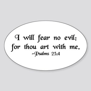 """I Fear No Evil"" Oval Sticker"