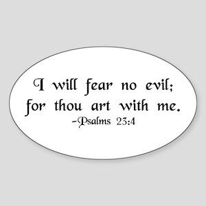 """I Fear No Evil"" Oval Sticker"