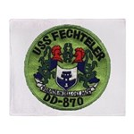 USS FECHTELER Throw Blanket