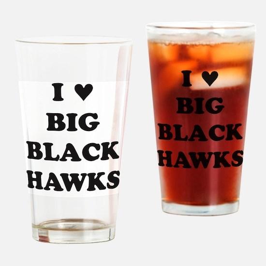 Big Black Hawks Drinking Glass