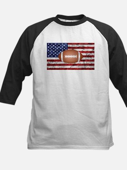 American football ball on flag Baseball Jersey