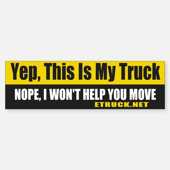This is my Truck Bumper Bumper Bumper Sticker