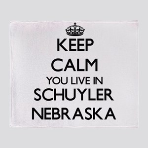 Keep calm you live in Schuyler Nebra Throw Blanket