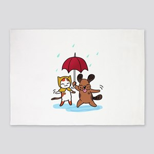 Raining Cats and Dogs 5'x7'Area Rug