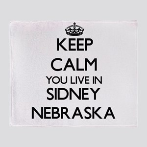 Keep calm you live in Sidney Nebrask Throw Blanket