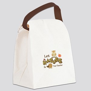 Let Nature Be Your Teacher Canvas Lunch Bag