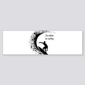 I'd Rather Be Surfing Bumper Sticker